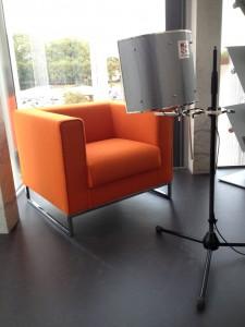 Première séance d'enregistrement pour le Studio mobile, le 16 septembre 2014